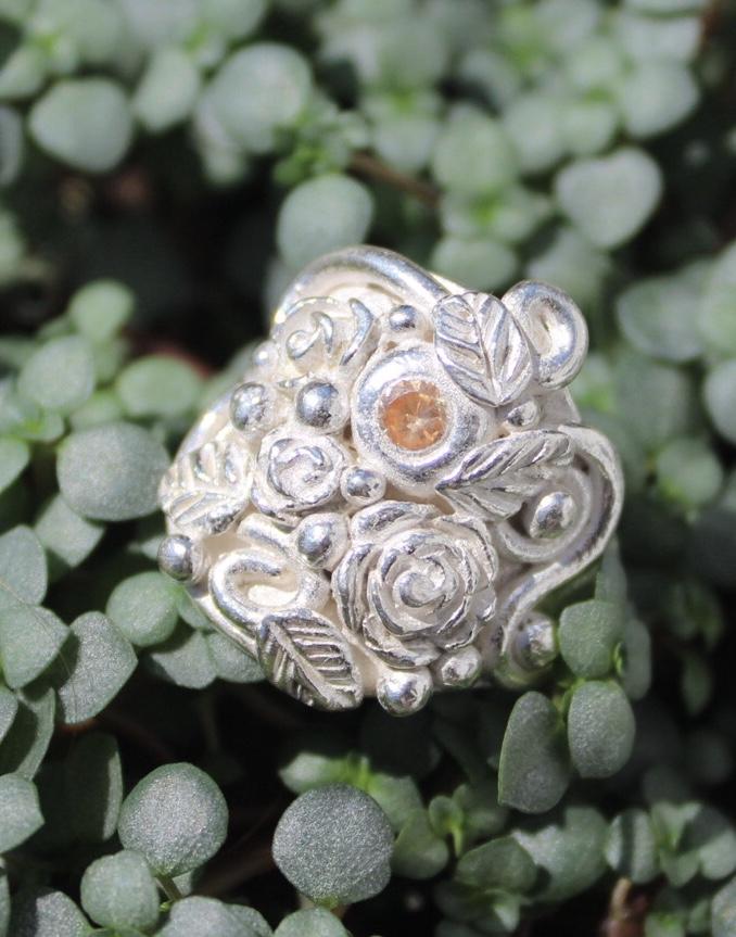 Ring Rosengarten mit Zirkonia